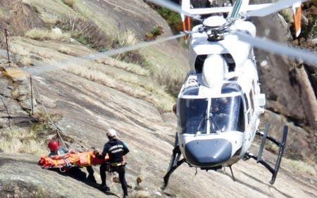 Rescatado un barranquista de la zona del Barranco de La Bolera en Pozo Alcón