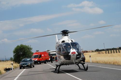 Un herido grave en accidente de tráfico en Alcaudete