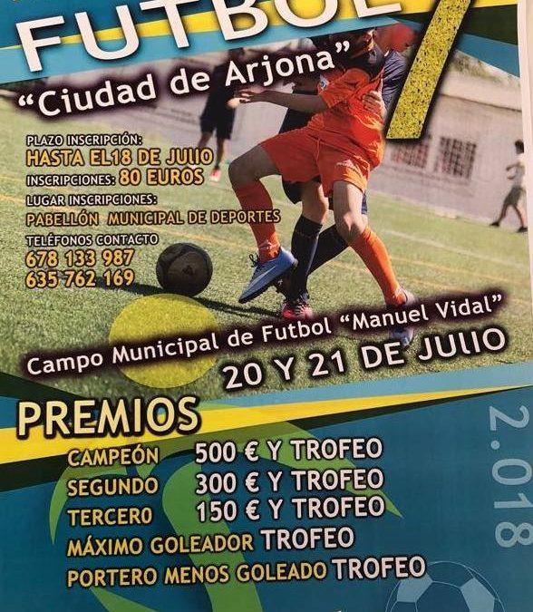 """Abierto el plazo de inscripción para el maratón de Fútbol 7 """"Ciudad de Arjona"""""""