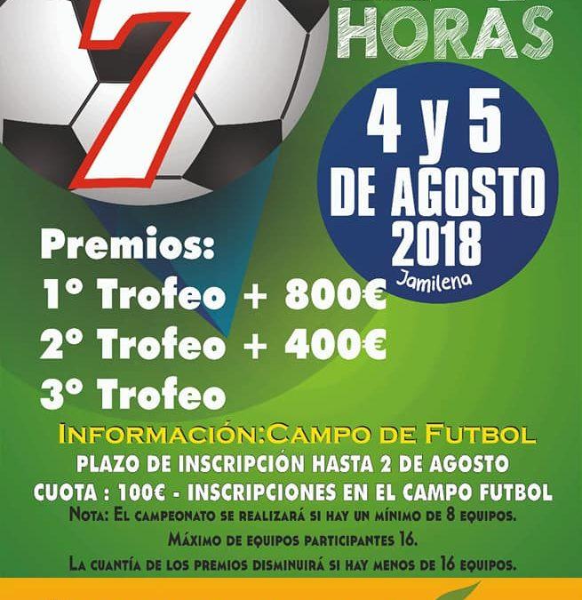Campeonato de Futbol 7 en el Campo de Futbol Municipal de Jamilena