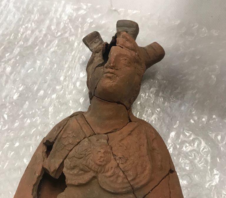 'Reaparece' en Jaén el busto de la Minerva de Encina Hermosa