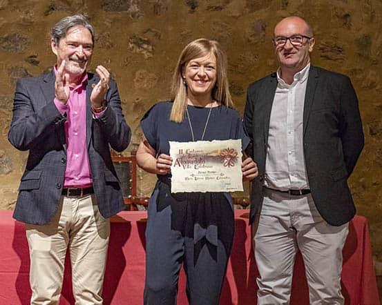 Lola Madero recoge su premio en Alcaudete