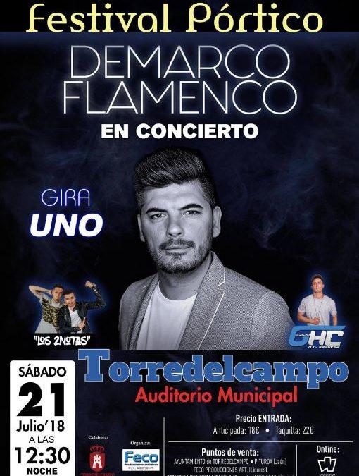 Suspendido el concierto de Demarco Flamenco en Torredelcampo