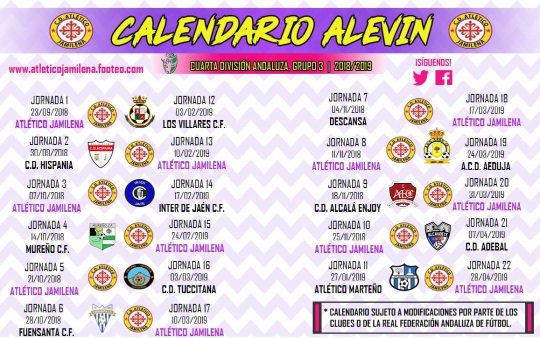 Ya disponible el calendario oficial de la temporada 2018/2019 del Atlético de Jamilena