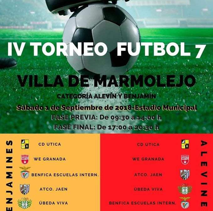 El estadio municipal acoge el IV torneo de fútbol 7 «Villa de Marmolejo»
