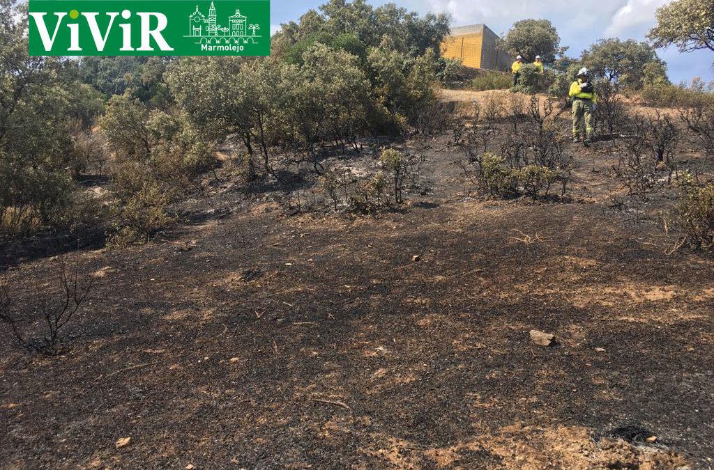 Extinguido el incendio forestal del Alto del Rincón, en el término municipal de Marmolejo