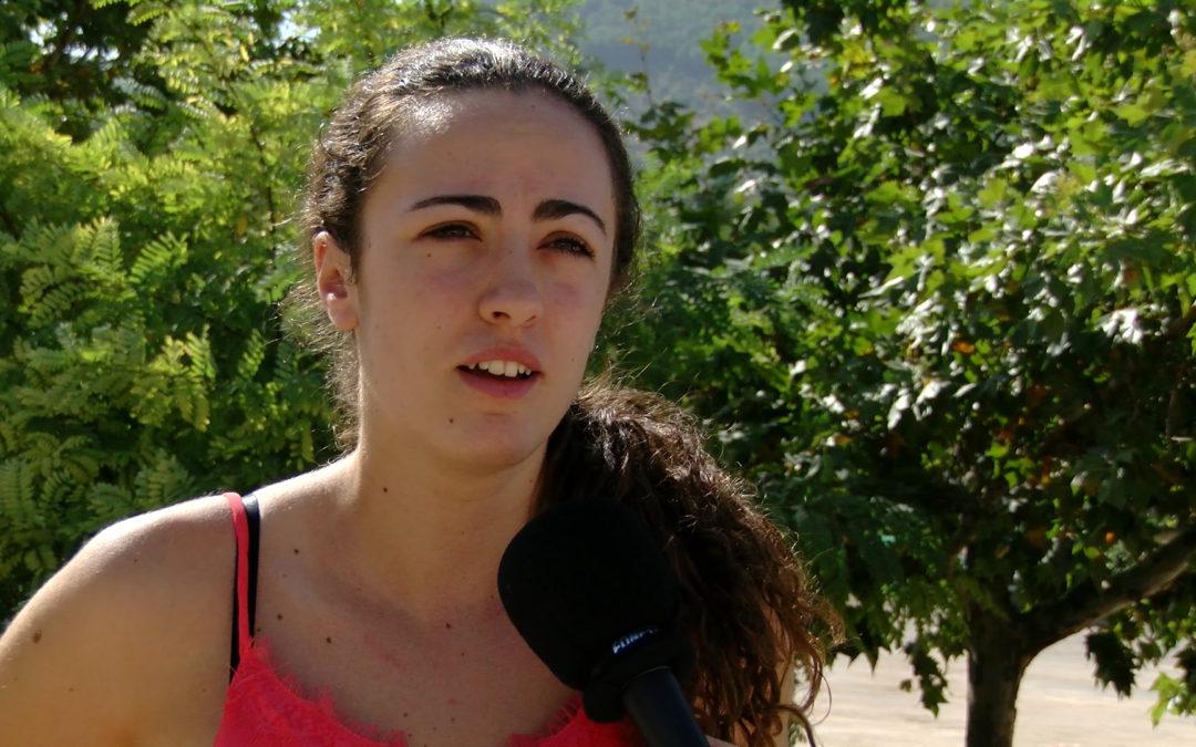 María Garrido se muestra contenta con el resultado obtenido en el Campeonato Europeo de Kinball