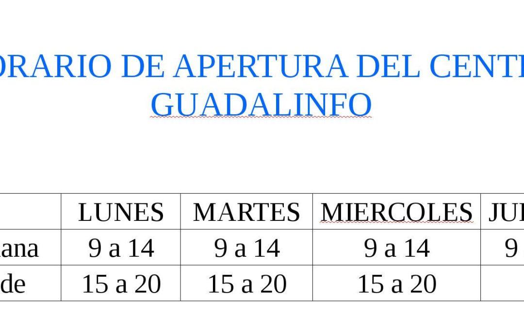 Nuevos horarios Guadalinfo de Jamilena