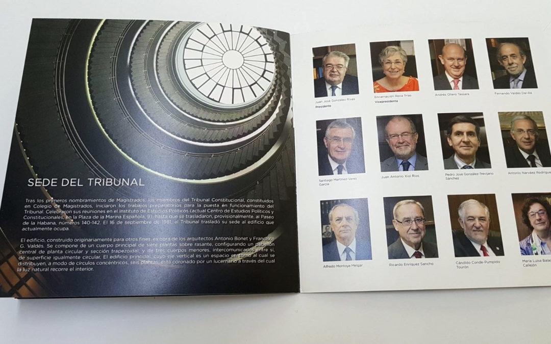 El Tribunal Constitucional selecciona a Gráficas la Paz para la impresión de una publicación divulgativa