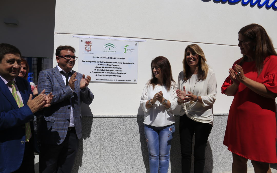 Susana Díaz inauguró la nueva escuela infantil de Castillo de Locubín