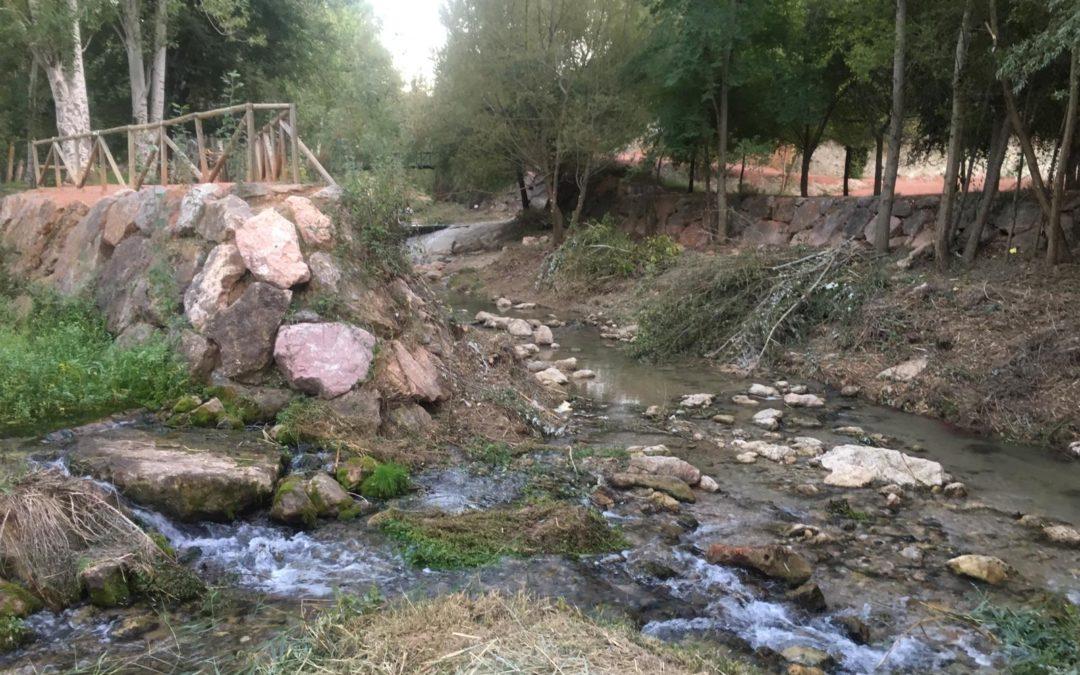 Trabajos de limpieza en el cauce del río San Juan