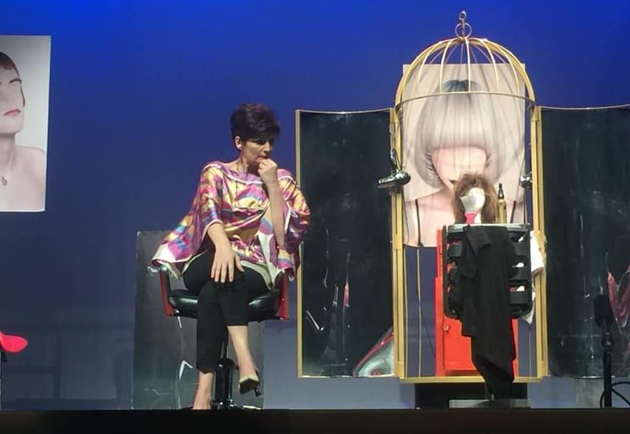 La actriz andujareña Olga Hueso pisa las tablas del Teatro Principal