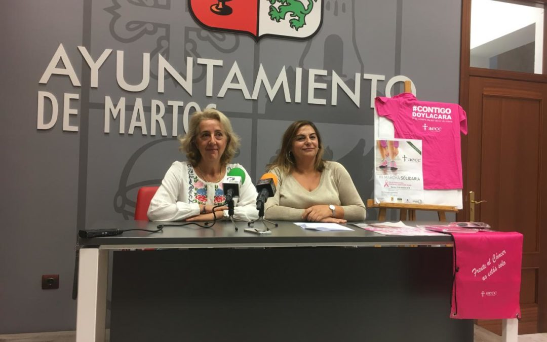 La VII Marea Rosa recorrerá las calles de Martos contra el cáncer de mama