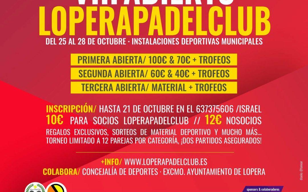El Lopera Pádel Club organiza el VIII torneo abierto