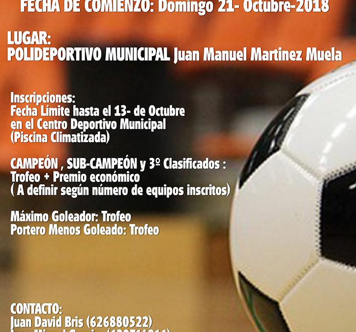 El 21 de octubre comienza la liga local de fútbol sala