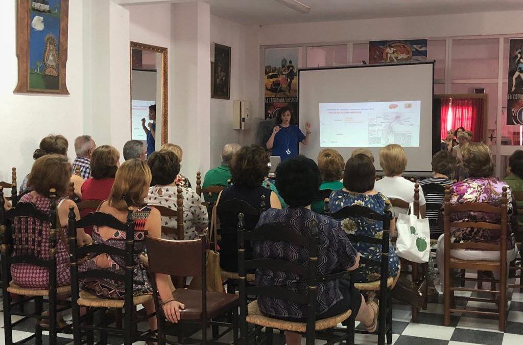 La psicóloga Rosa María Coba ofrece una charla sobre salud mental
