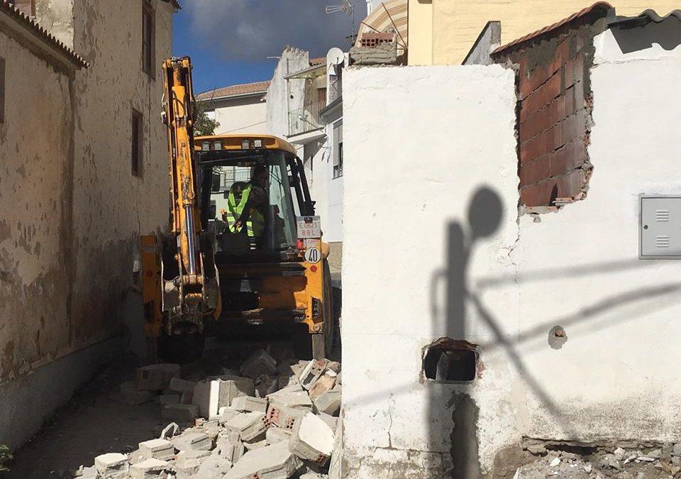Obras de ampliación del callejón de Independencia