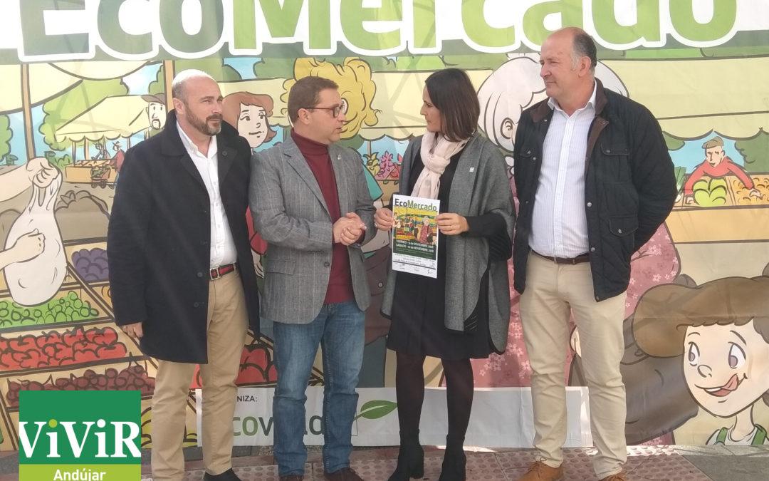 """El """"Ecomercado"""" presenta la calidad de los productos ecológicos en Andújar"""