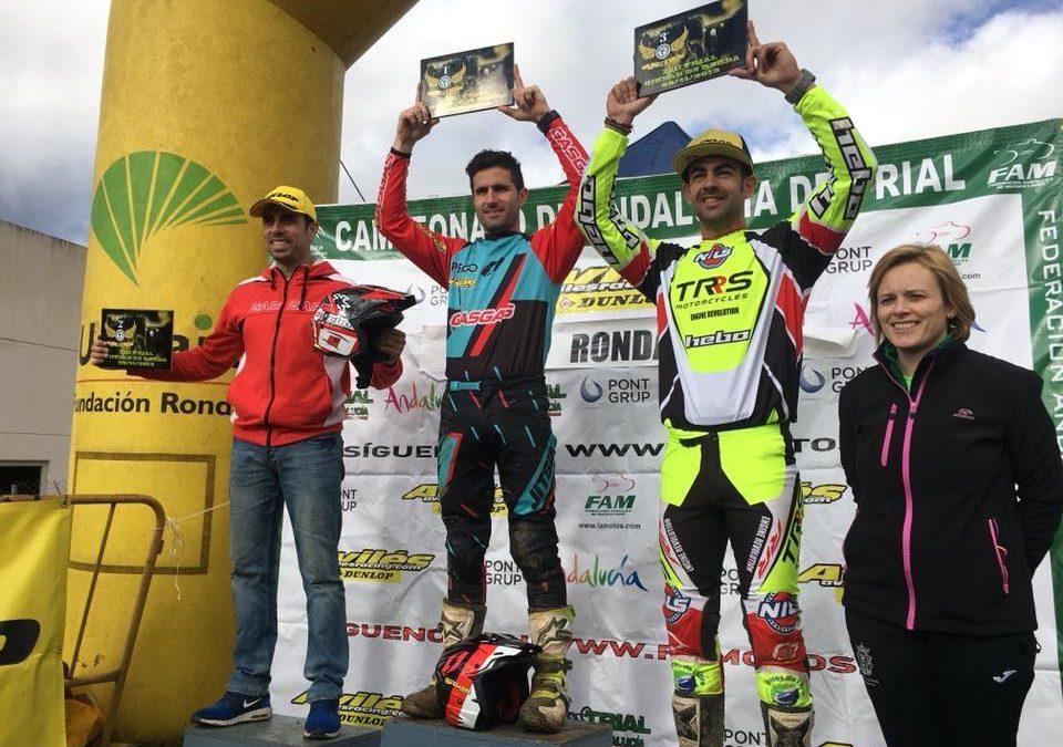 José María Moral se sube al podium la penúltima cita del Campeonato de Andalucía de Trial