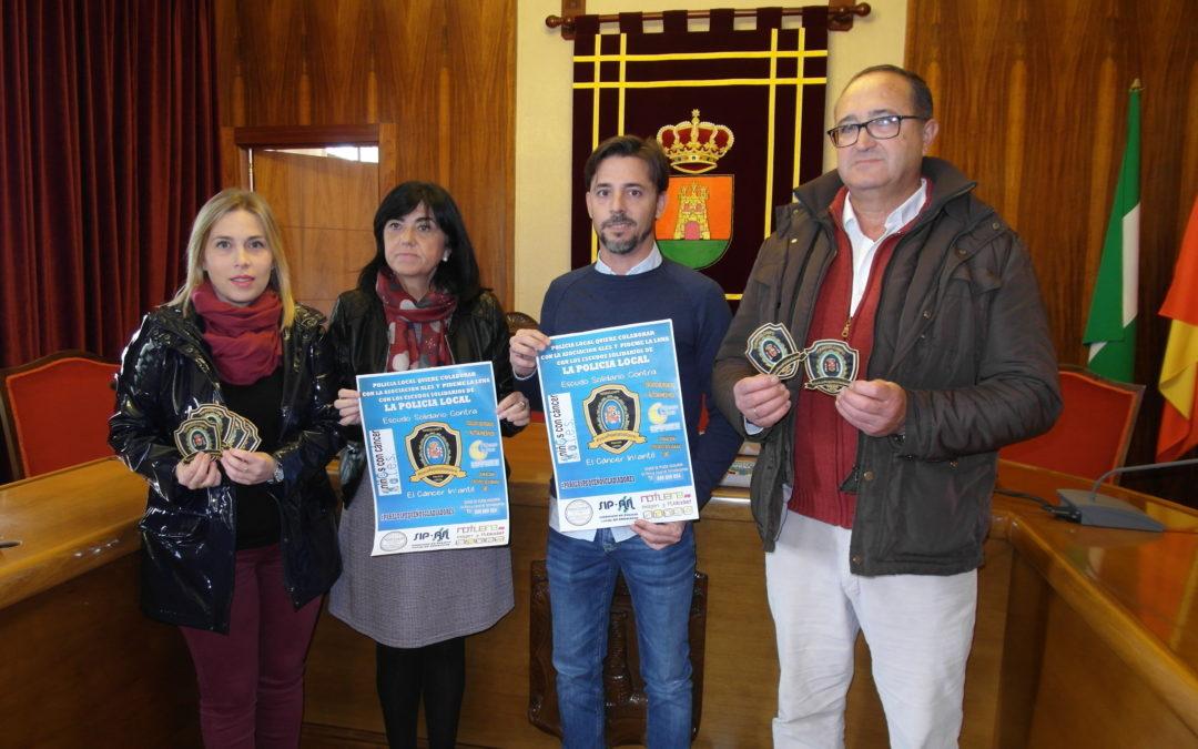La Policía Local de Torredelcampo se suma a la campaña 'Escudos Solidarios' contra el cáncer infantil