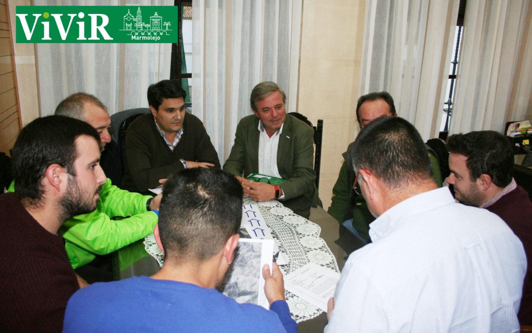 El delegado de Medio Ambiente visita Marmolejo