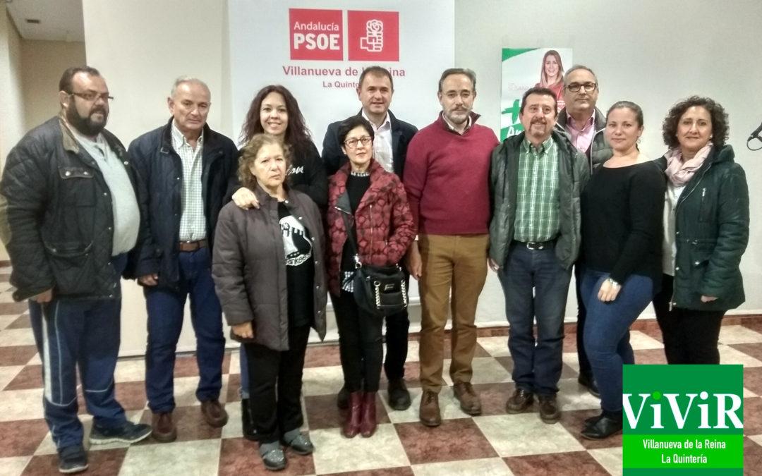 El consejero Félipe López visita Villanueva de la Reina