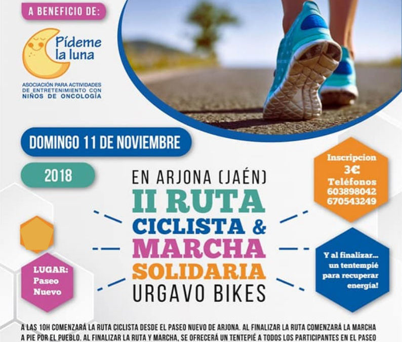 Urgavo Bikes organiza la II Ruta ciclista y marcha solidaria por Arjona
