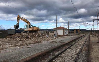 Demolida la antigua estación de trenes de Marmolejo