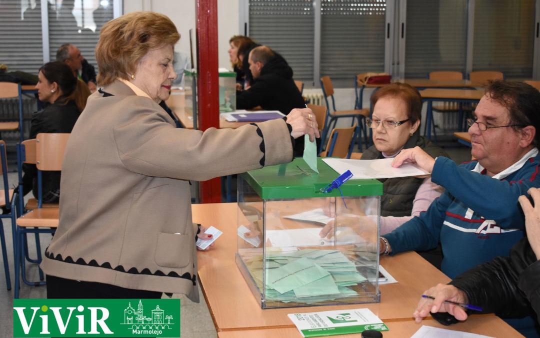 Los líderes marmolejeños de los principales partidos ya han ejercido su derecho al voto