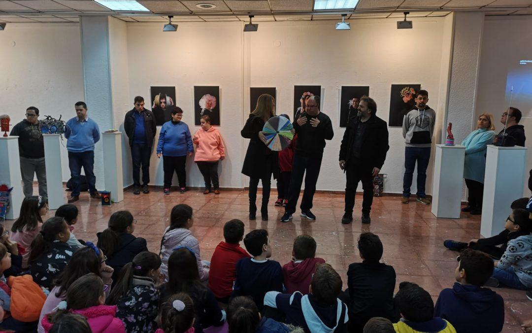 Encuentros con autor de arte inclusivo y alumnado de primaria
