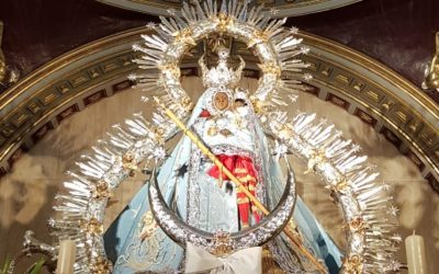 La Virgen de la Cabeza estrena un terno concepcionista