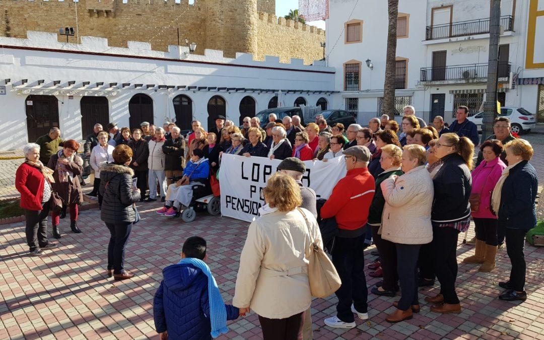 Nueva concentración de los pensionistas en Lopera