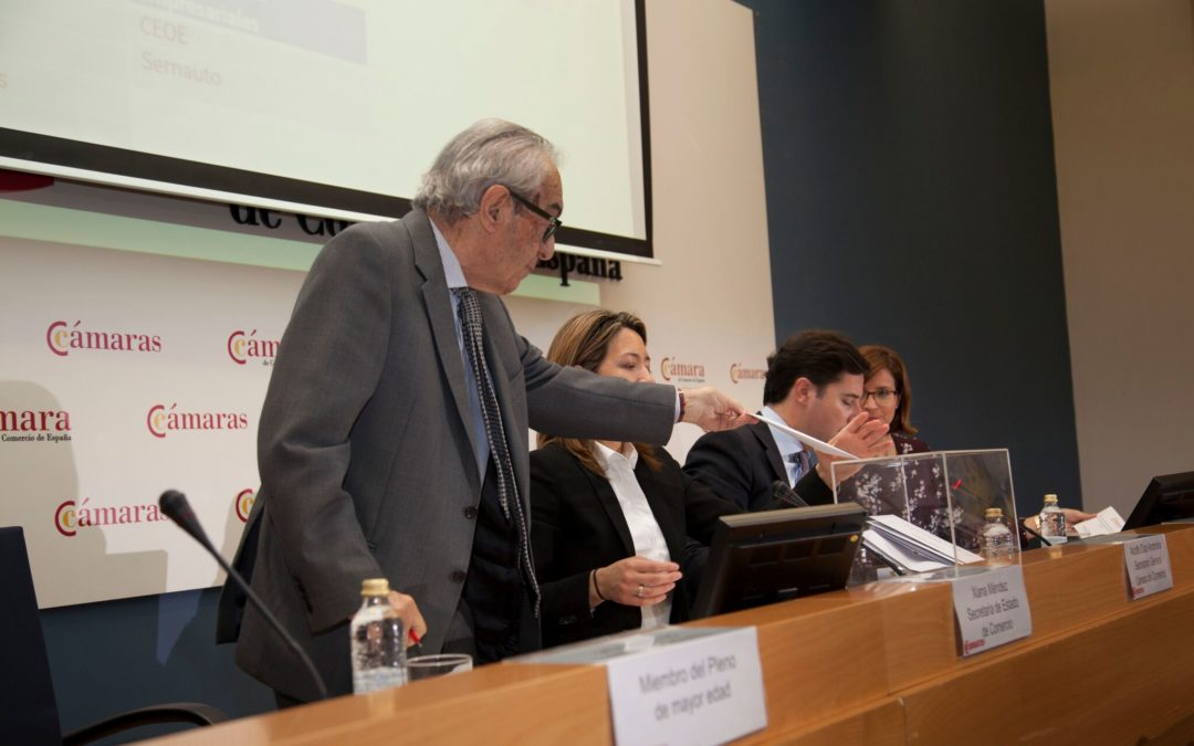 Eduardo Criado es reelegido como tesorero de la Cámara de España