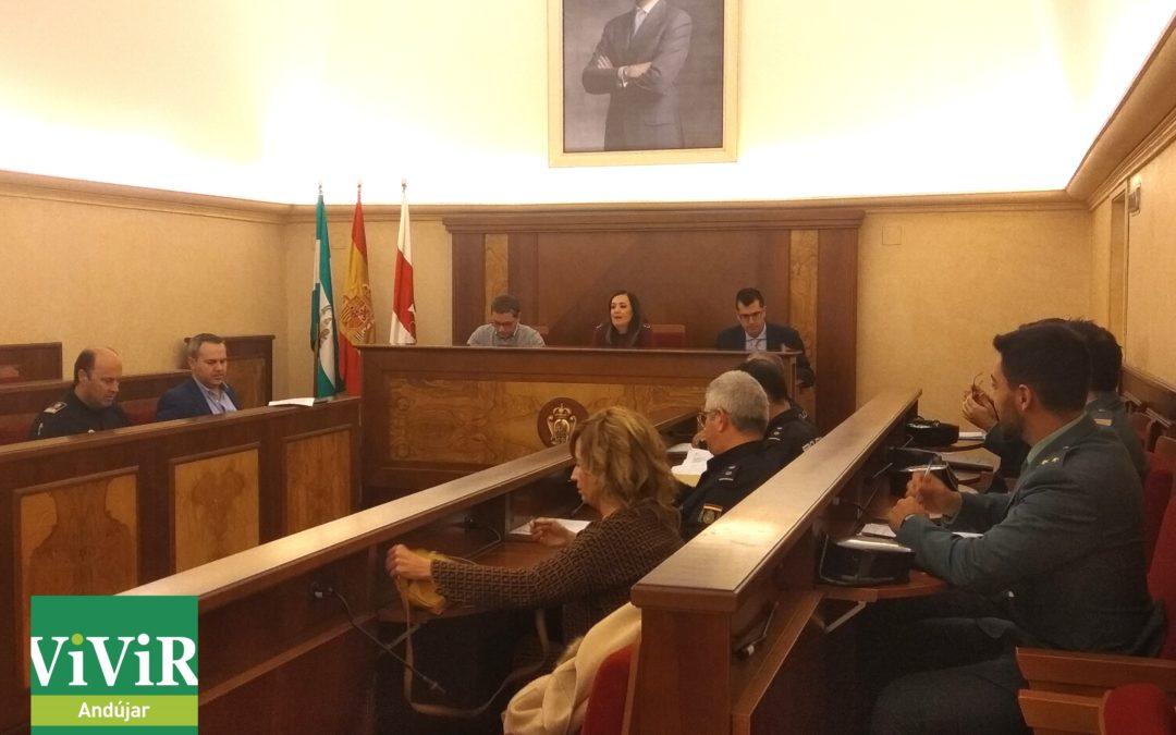 Puesta en marcha del dispositivo especial de seguridad para la Navidad en Andújar