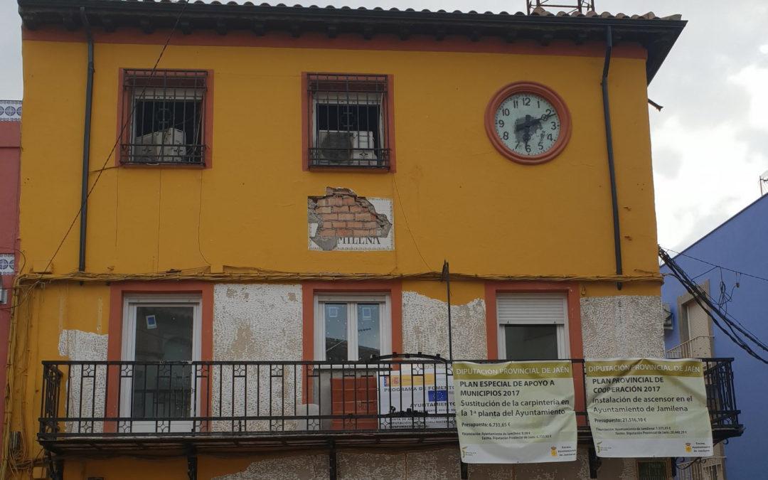 El PSOE de Jamilena denuncia el alargamiento de las obras en el Ayuntamiento de Jamilena