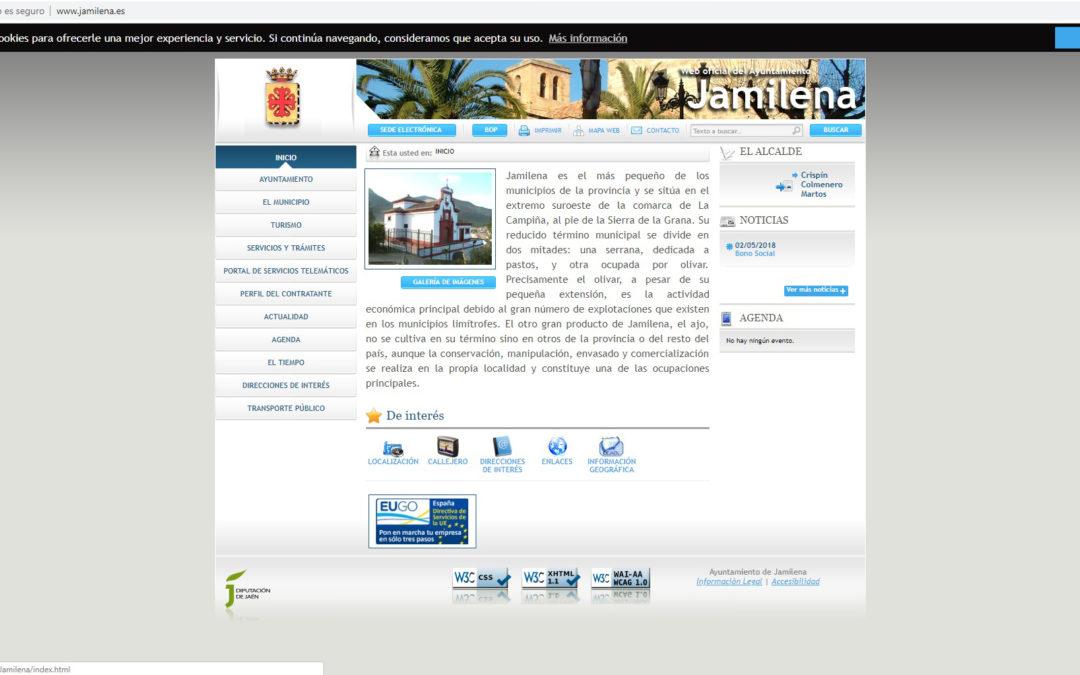 El PSOE de Jamilena denuncia que la página web del Ayuntamiento lleva 4 años sin actualizarse