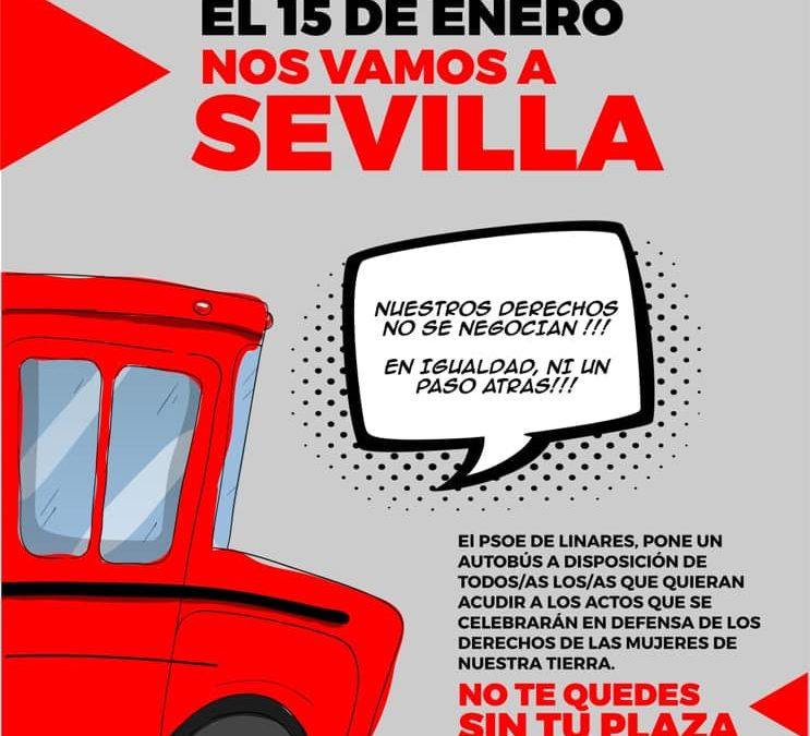 El PSOE de Linares fleta un autobús para la manifestación de Sevilla