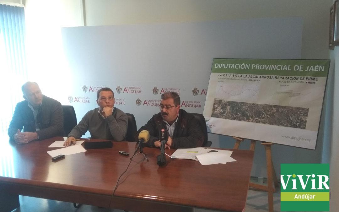 Comienzan las obras de mejora en la Carretera de la Alcaparrosa