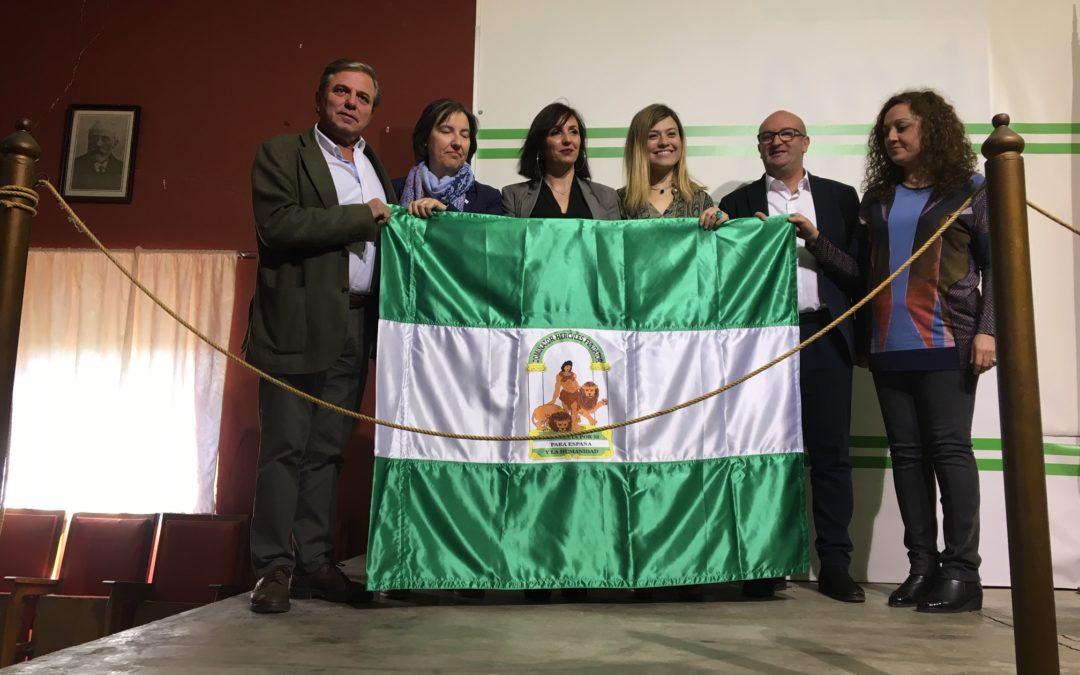 La Plataforma Tosiriana por la coeducación recibe la Bandera de Andalucía de Torredonjimeno