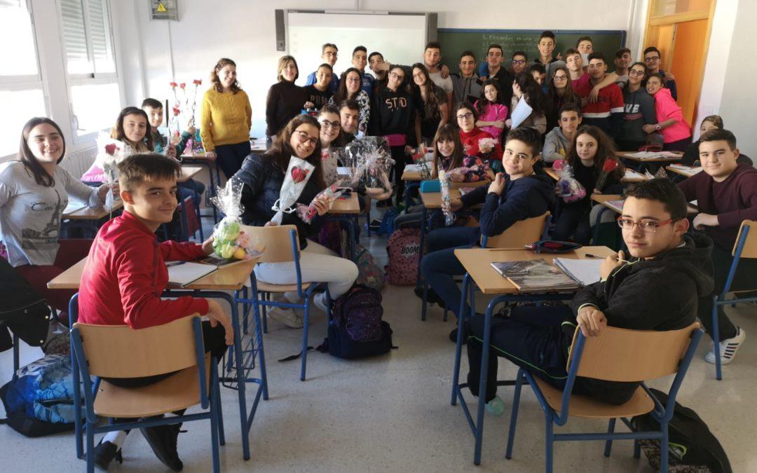 Los jóvenes del IES Sierra de la Grana celebran San Valentín