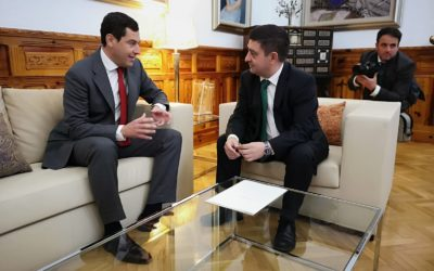 El nuevo presidente de la Junta de Andalucía se reúne con el presidente de la Diputación