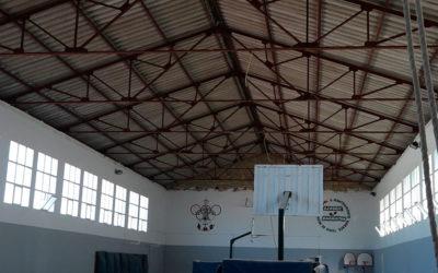 Finaliza la retirada de amianto en el segundo pabellón del Matías Prats