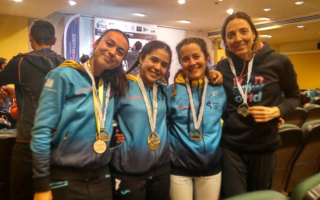 Silvia Lara, campeona de España de Snow Running