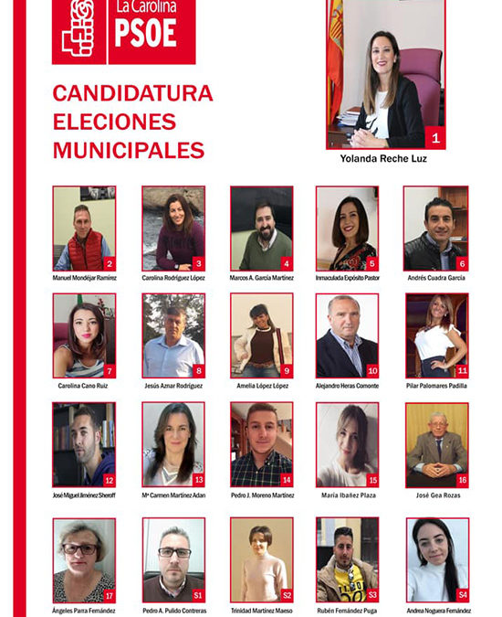 El PSOE de La Carolina hace público la lista de las Municipales