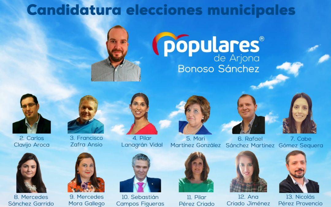 El PP de Arjona presenta su lista para las elecciones municipales