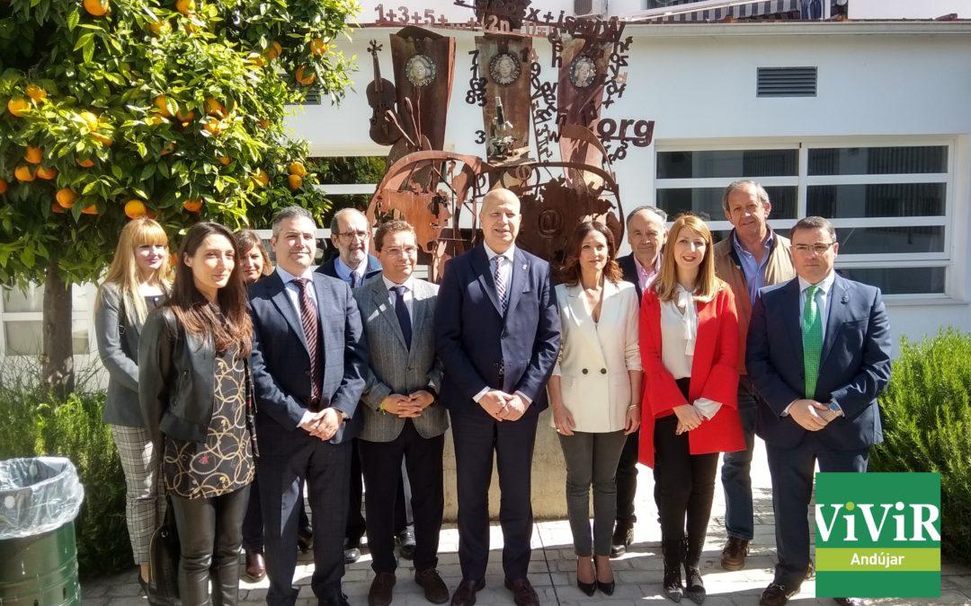 El Consejero de Educación de la Junta de Andalucía visita el IES Virgen de la Cabeza