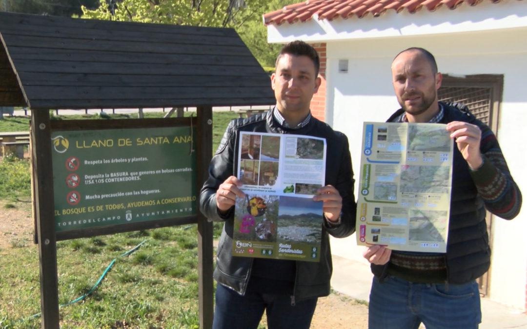 El área de medio ambiente edita una guía con 4 rutas de senderismo en el entorno de Torredelcampo