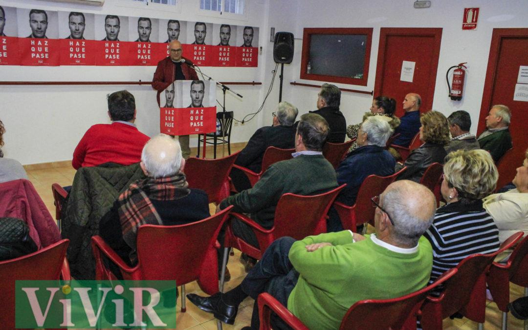 Mitin del PSOE en Ventas del Carrizal