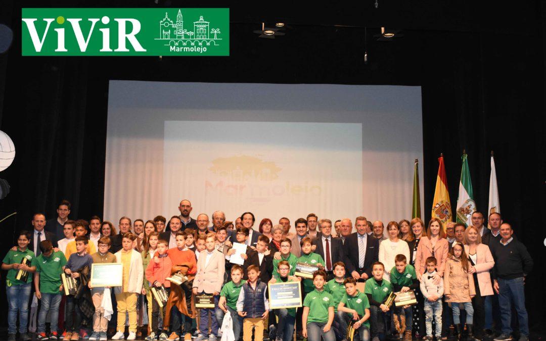 La X Gala del Deporte de Marmolejo premia el trabajo y esfuerzo de los deportistas locales