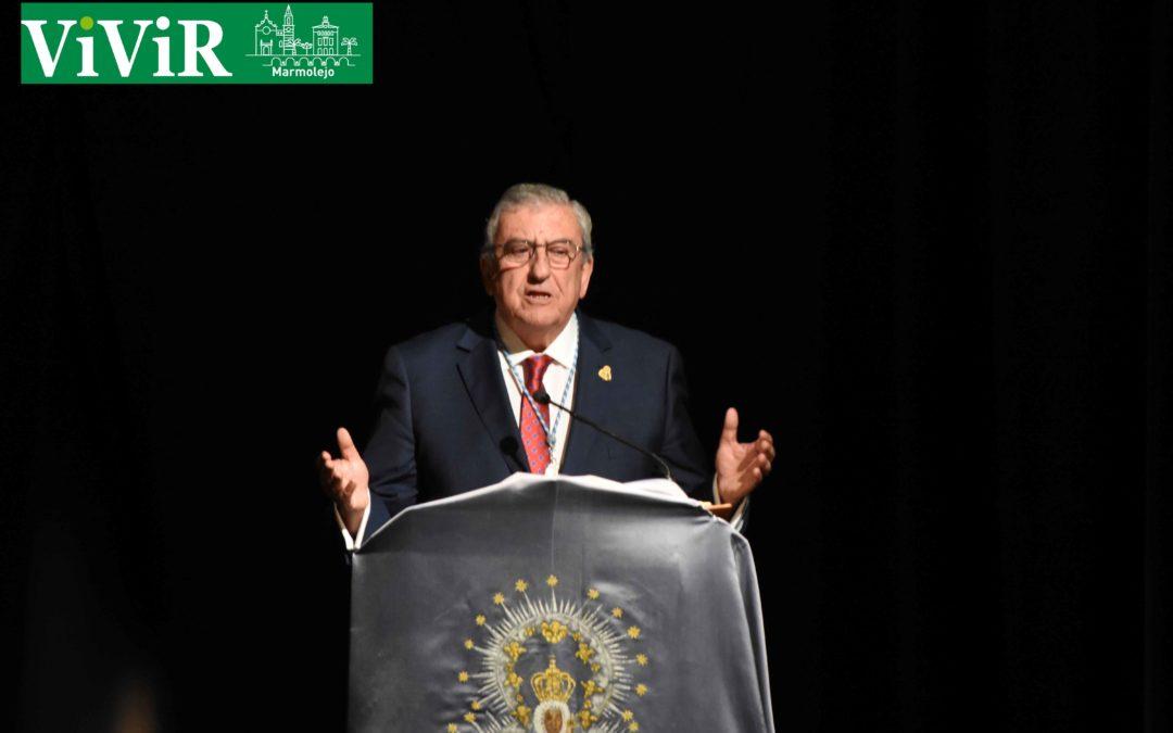Antonio Parras pronuncia un pregón de Romería cargado de recuerdos, poesía e historia